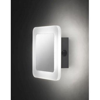 Applique murale Wofi IMPULS LED Chrome, 1 lumière