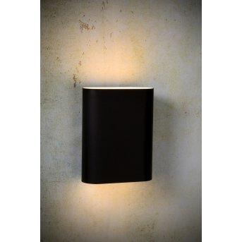 Applique Lucide OVALIS Noir, 2 lumières