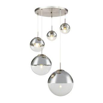 Suspension Globo VARUS Nickel mat, 5 lumières