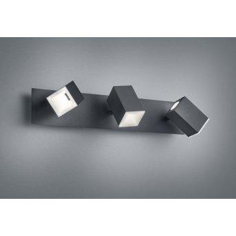 Applique murale Trio LAGOS LED Noir, 3 lumières