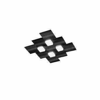 Plafonnier Grossmann CREO LED Noir, 4 lumières