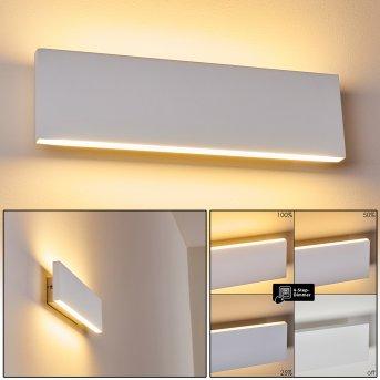 Applique murale Obion LED Blanc, 2 lumières
