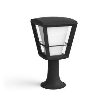 Borne lumineuse Philips Hue Ambiance White & Color Econic LED Noir, 1 lumière, Changeur de couleurs