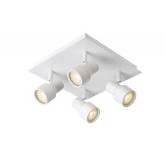 Plafonnier Lucide SIRENE LED Blanc, 4 lumières