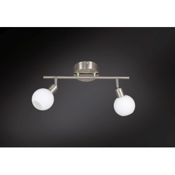 Plafonnier Wofi NOIS LED Nickel mat, 2 lumières