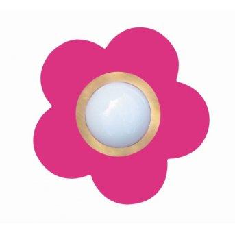 Plafonnier Waldi Fleur petit Rose, 1 lumière