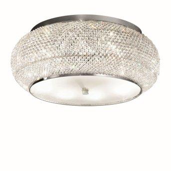 Plafonnier Ideal Lux PASHA Chrome, Aspect cristal, 10 lumières