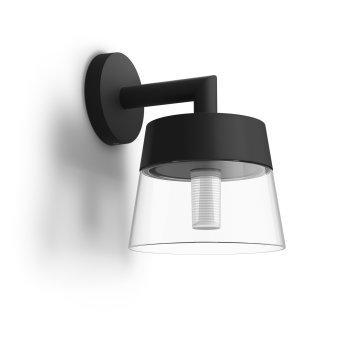 Applique murale Philips Hue White & Color Ambiance Attract LED Noir, 1 lumière