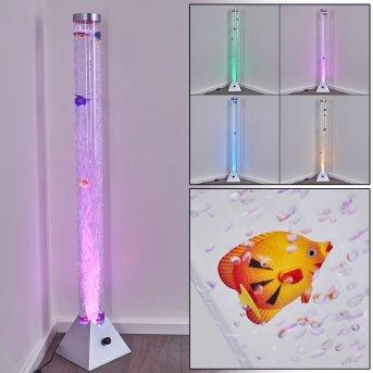 Lampadaire Wanas LED Titane, 1 lumière, Changeur de couleurs