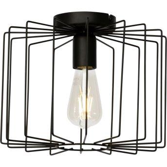 Plafonnier Brilliant Onelia Noir, 1 lumière