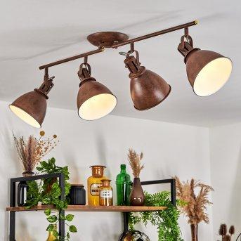Plafonnier Koppom Rouille, 4 lumières