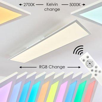 Plafonnier Antria LED Blanc, 1 lumière, Télécommandes, Changeur de couleurs