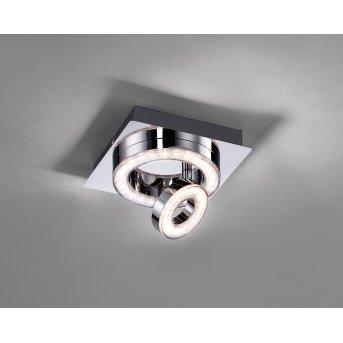 Plafonnier Leuchten Direkt TIM LED Chrome, 2 lumières