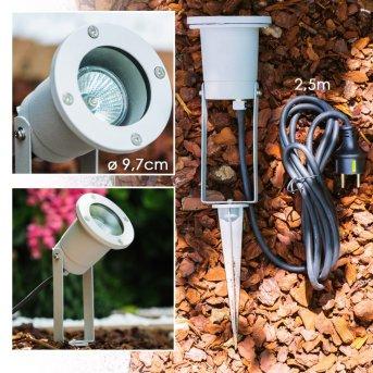 Projecteur de jardin Pilsen Argenté, 1 lumière