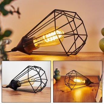 Lampe de table Cenova Noir, 1 lumière