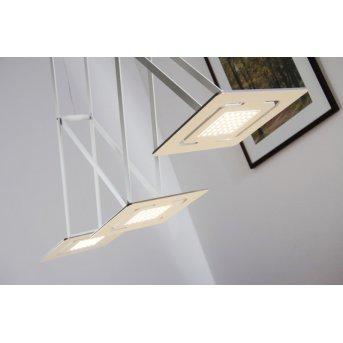 Suspension Evaluz SLIDE LED Blanc, 3 lumières