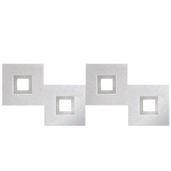 Plafonnier Grossmann KARREE LED Aluminium, Titane, 4 lumières