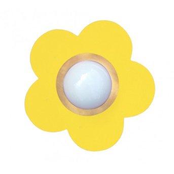 Plafonnier Waldi Fleur petit Jaune, 1 lumière
