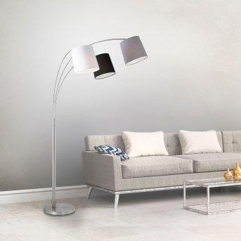 Lampadaire Leuchten-Direkt MELVIN Blanc, Gris, Noir, 3 lumières