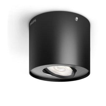 Plafonnier Philips Phase LED Noir, 1 lumière