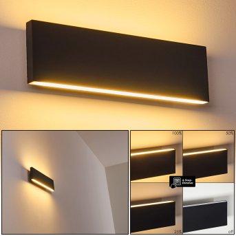 Applique murale Obion LED Anthracite, 2 lumières