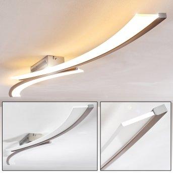 Plafonnier Orgia LED Nickel mat, 1 lumière
