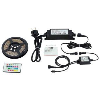 Bande lumineuse LED STRIPES-FLEX Eglo Transparent, 1 lumière, Télécommandes, Changeur de couleurs