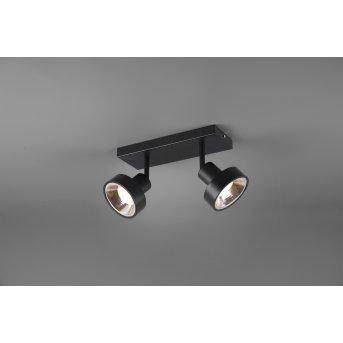 Spot Trio Leon LED Noir, 2 lumières