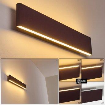 Applique murale Obion LED Rouille, 2 lumières