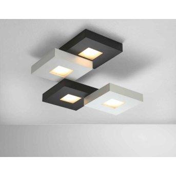 Plafonnier Bopp CUBUS LED Noir, Blanc, 4 lumières