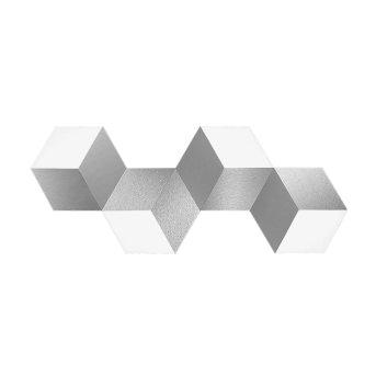 Applique murale / Plafonnier Grossmann GEO LED Aluminium, 4 lumières