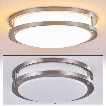 Plafonnier Sora LED Nickel mat, Blanc, 1 lumière