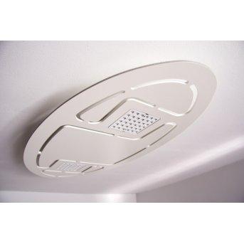 Plafonnier Evaluz Ellipse LED Blanc, 2 lumières