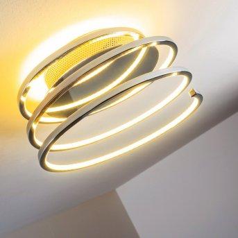 Plafonnier Sepino LED Chrome, 1 lumière