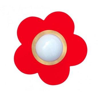 Plafonnier Waldi Fleur petit Rouge, 1 lumière