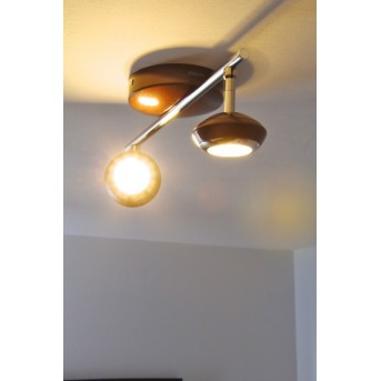 Spot Philips SEPIA LED Chrome, Rouille, Brun, 2 lumières
