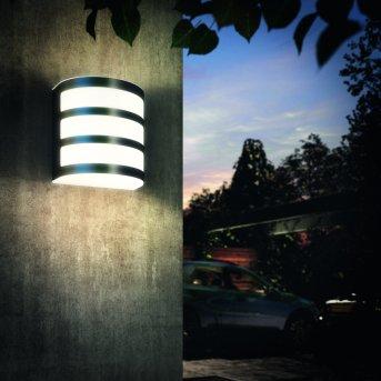Applique murale d'extérieur Philips Calgary LED Acier inoxydable, 1 lumière