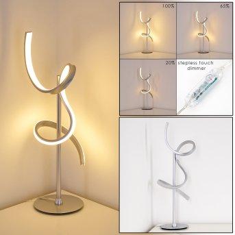 Lampe à poser Lavaca LED Argenté, 1 lumière