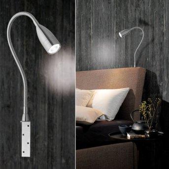 Lampe de chevet Honsel Sten LED Nickel mat, 1 lumière