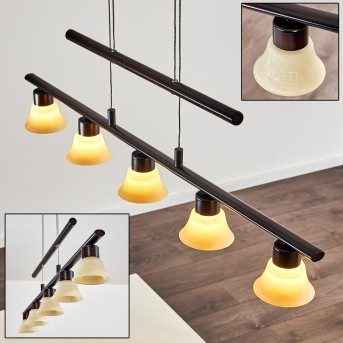 Suspension Nellim LED Rouille, 5 lumières