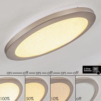 Plafonnier Fasola LED Nickel mat, 1 lumière