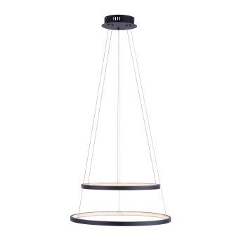 Suspension Leuchten Direkt CIRCLE LED Anthracite, 1 lumière