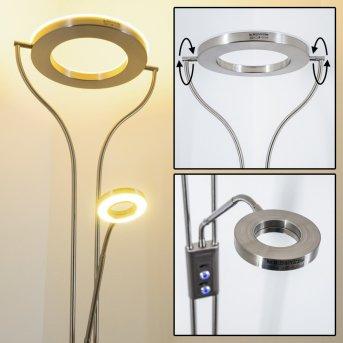 Lampadaire à vasque Donna LED Nickel mat, 1 lumière