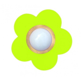 Plafonnier Waldi Fleur petit Vert, 1 lumière